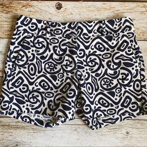 ✨Ann Taylor Navy Patterned Shorts